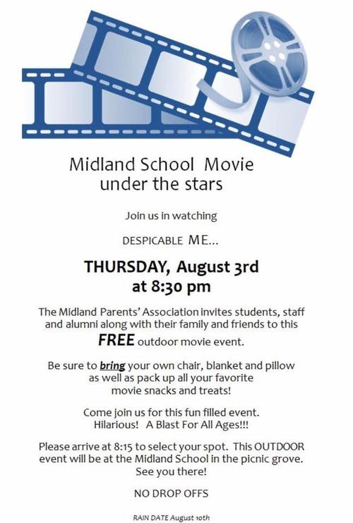 Midland Under the Stars - Aug 3 2017 - PA Movie Night 4